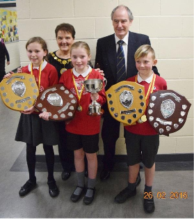 Schools Competition Winners with Robert Stevenson